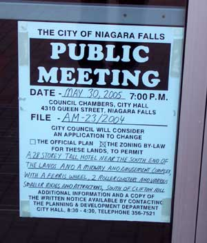Public Meeting sign