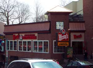Wendy's on Clifton Hill in Niagara Falls