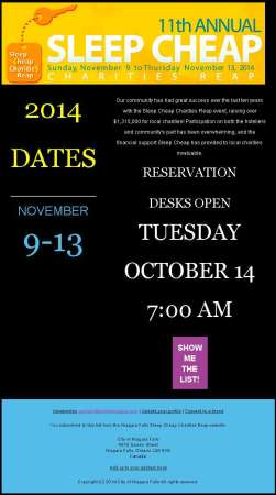 20141007_sleep_cheap_charities_reap_announcement_email_newsletter