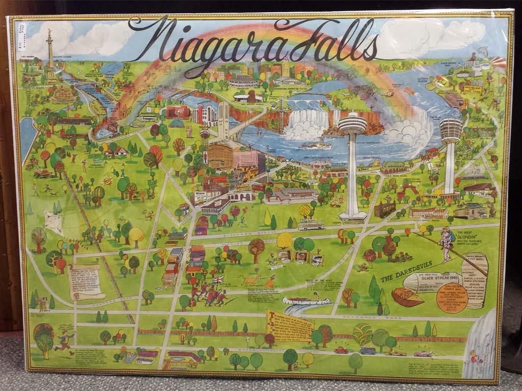 1973 tourism map of Niagara Falls Niagara Falls Blog