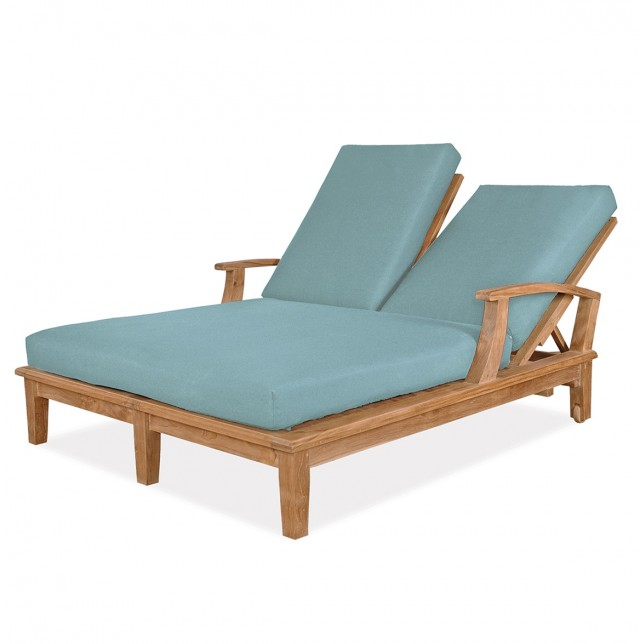 Double Chaise Lounge Outdoor Replacement Cushions