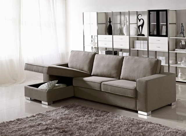 Leather Chaise Lounge Couch