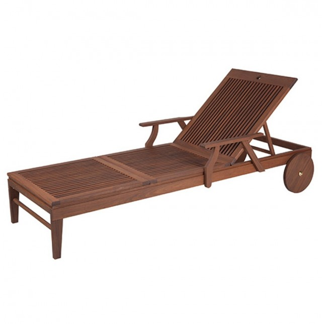 Patio Chaise Lounge With Wheels