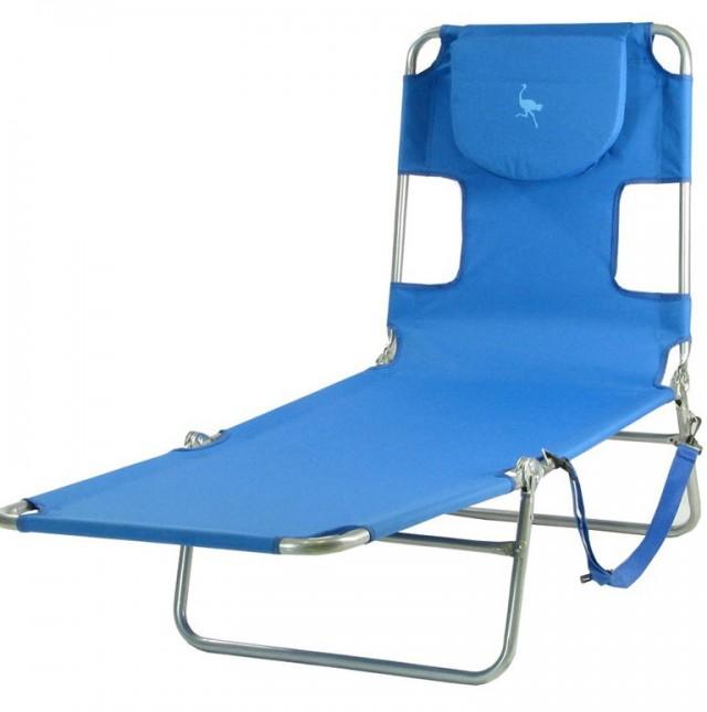Ostrich Chaise Lounge Beach Chair Blue