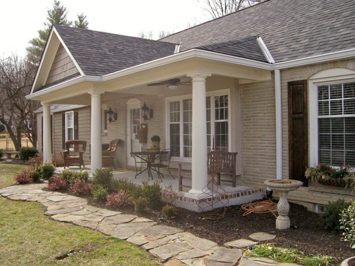 Adding A Front Porch To A Ranch House
