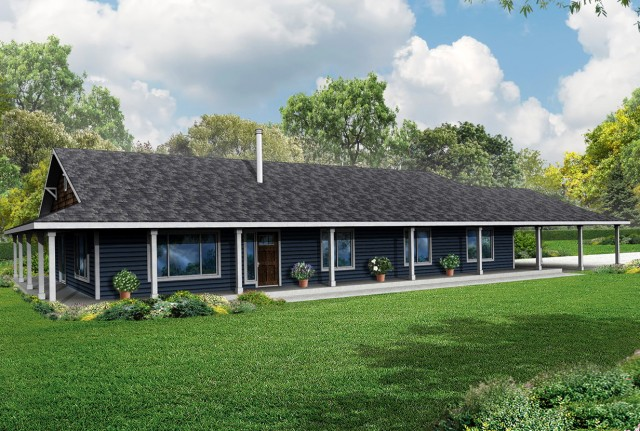 Ranch House With Wrap Around Porch Plans