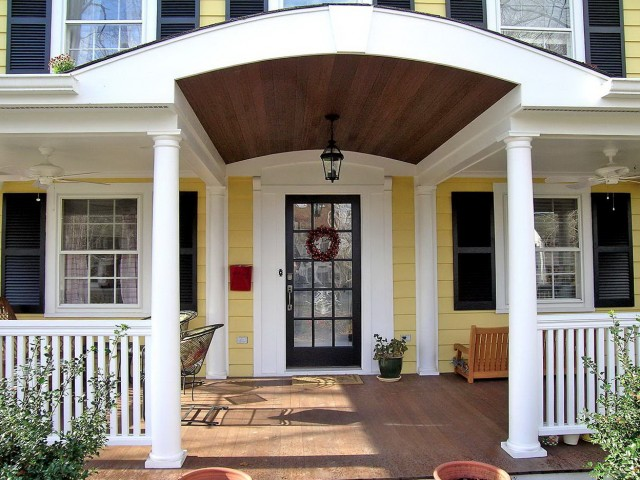 Adding Front Porch Before And After