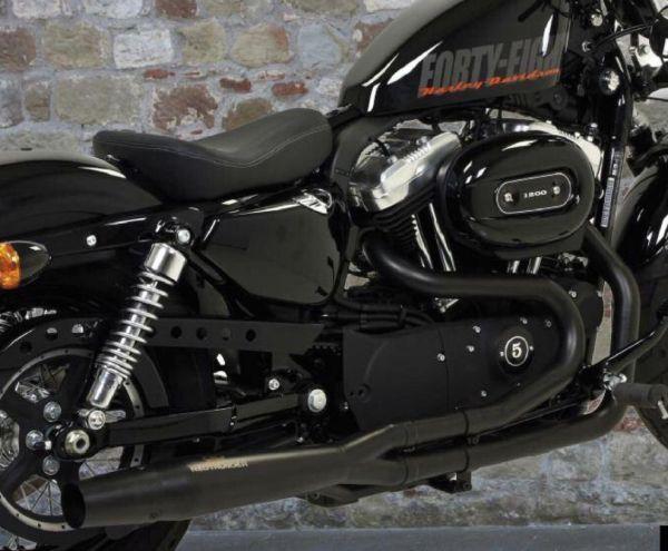auspuff red thunder exhausts black 2in1 homologiert harley davidson xl sportster 883 1200 04 up auspuff schalldampfer shopbiker verkaufsprodukte