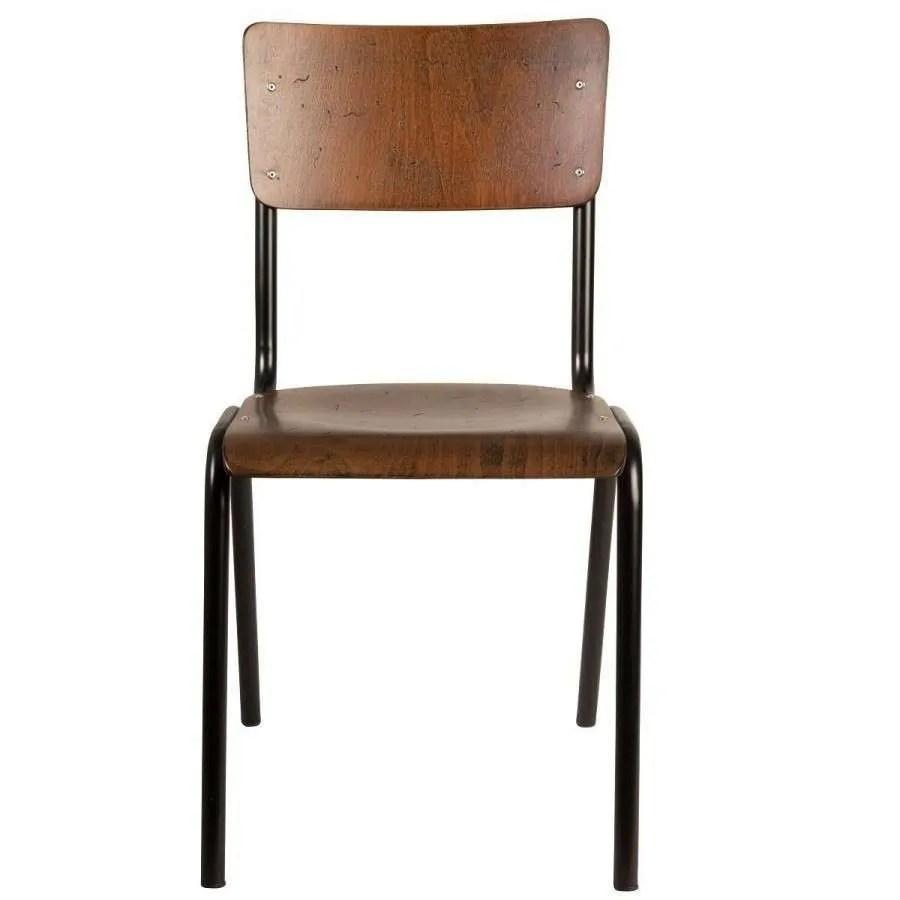 Dutchbone Scuola Retro Old School Style Dining Chair  Acc