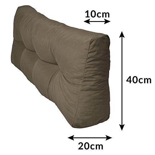 Cuscino per schienale divano pallet di legno  antracite