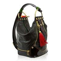 Marino Orlandi Italian Designer Black Leather Oversized ...