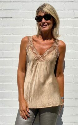 Top nuisette camel