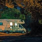 calm camping night rv park