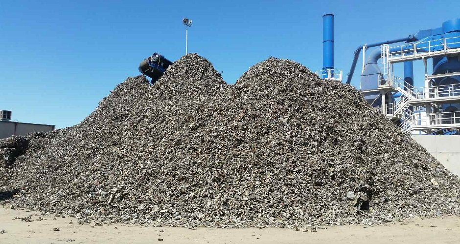 Foundry grade ferrous shred