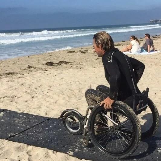 traversing beach sand trekking mat