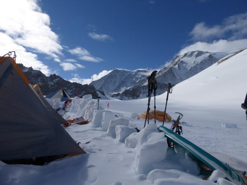 Climbing Vinson