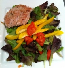 adobo pork salad
