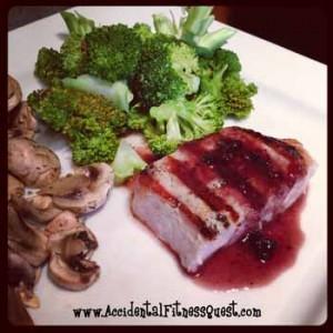 Asian Blackberry Pork Chops