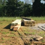 Accidental Hippies: Posts and beams delivered and ready to become our cordwood house frame
