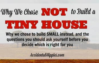 Trying to choose between building a tiny house or a small house? You know you don't want the expense, upkeep, and materialism that comes with having a BIG house, but should you build a tiny house? In this post, we'll examine exactly why we chose to go smaller but NOT tiny and give guiding questions to help you decide if tiny or small living are right for you. #tinyhouse #smallhouse #homesteading