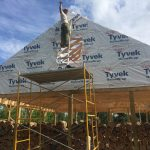 Putting up the last of the Tyvek!