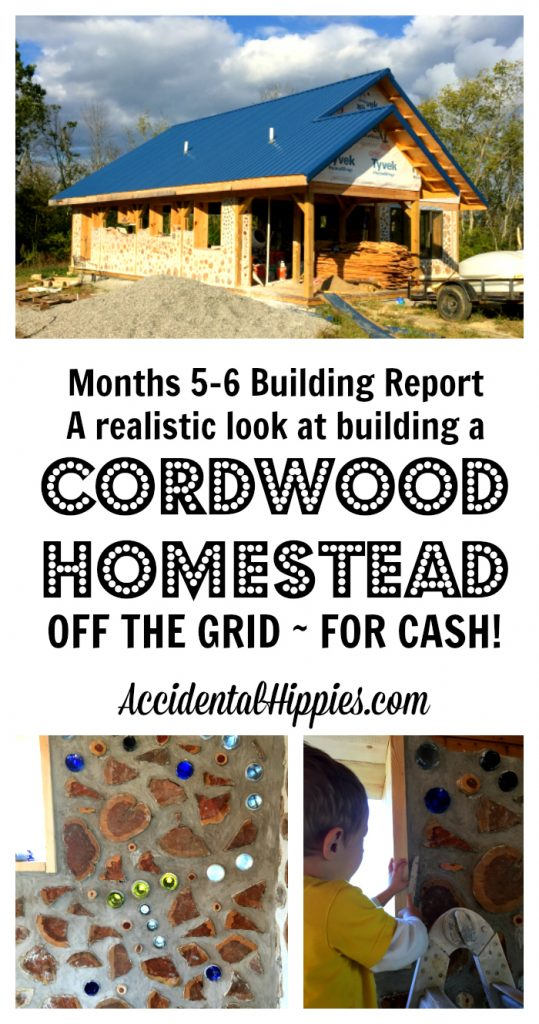 Wondering how long it takes to build a cordwood house by yourself? Here is the complete run-down of everything we accomplished from mid-September to the end of October in building our cordwood house - off the grid, paying cash as we go!