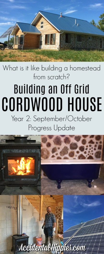 What is it like to build an off-grid cordwood house by hand? Check out this and other progress reports here to find out. #cordwoodhouse #homestead