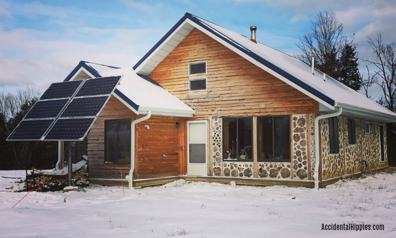Cordwood Houses In The Winter: How do they compare to regular construction?