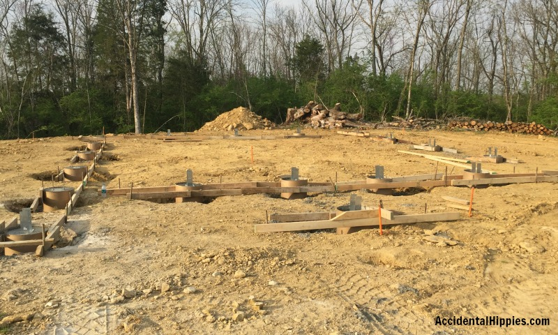 How we constructed the slab and pier foundation for our cordwood home. Step by step overview.