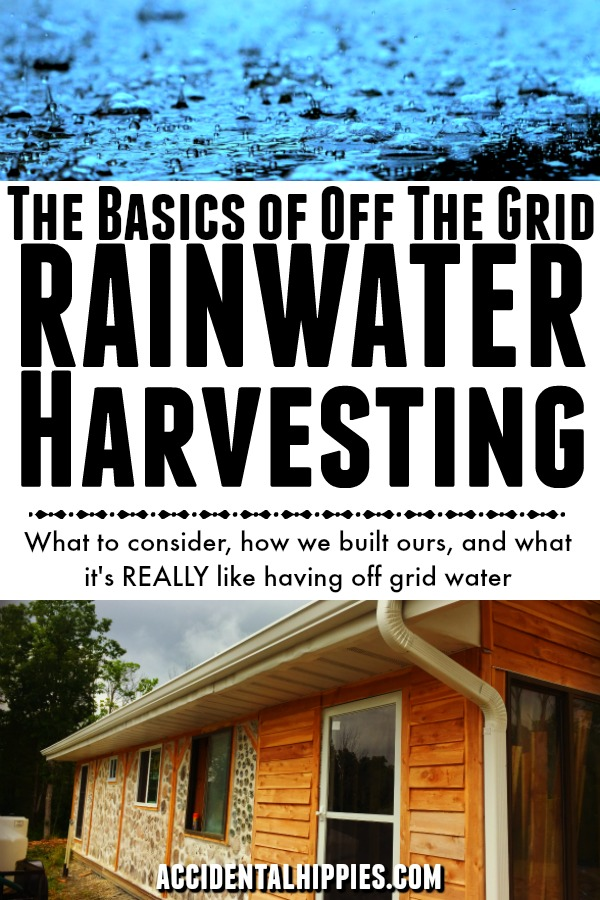 What do you need to know before setting up an off the grid rainwater harvesting system for your home? Read this to see exactly how we did it. #offthegrid #rainwater