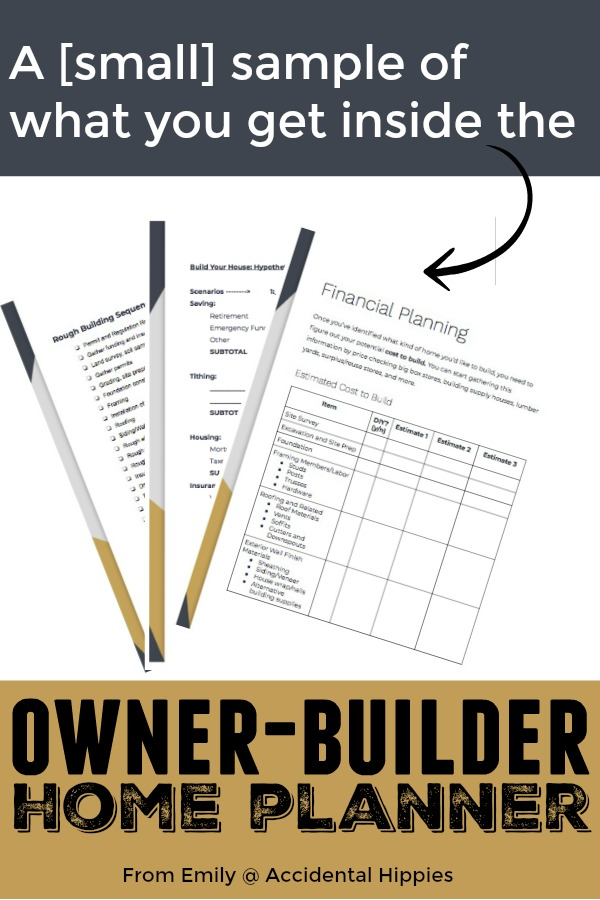 Building your home can be hard. Take out some of the stress and learn how to save tons of money in the Owner-Builder Home Planner. #homebuilding #diyhouse #buildahouse #housefromscratch