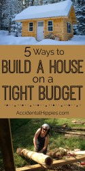5 Ways to Build a House on a Tight Budget Accidental Hippies