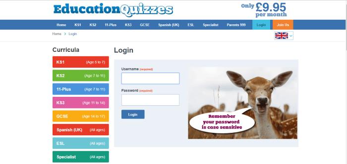 Education Quizzes Website Review