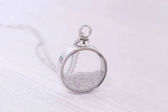 ashes into jewellery cremation jewerly glass pendant