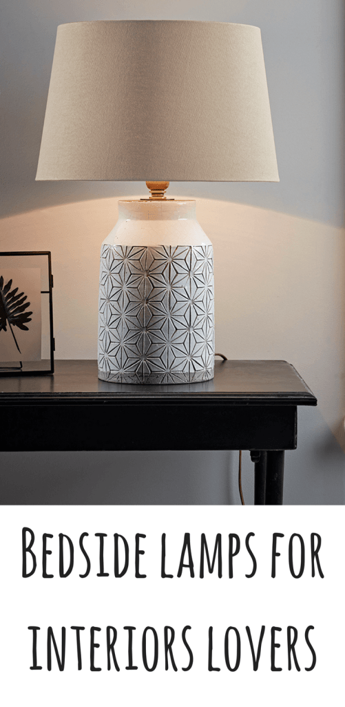 Bedside lamps can add the finishing touch to a stylish bedroom, as well as adding the functionality of being a light that can be turned off from your bed! I've handpicked this selection of versatile bedside lamps and table lamps to fit in with any interior styling.