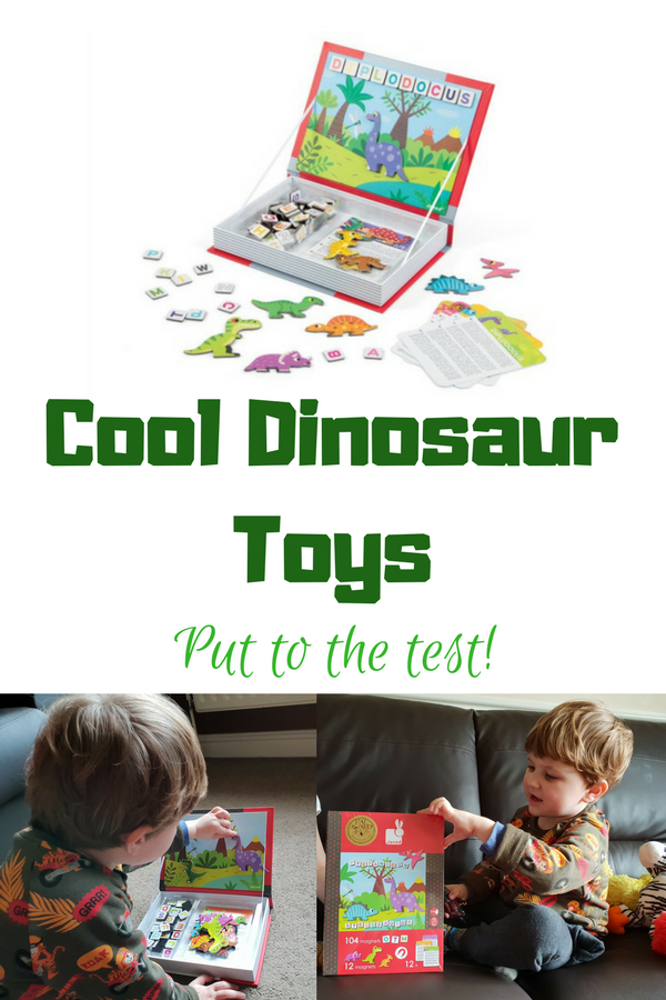 These cool dinosaur toys for boys (and girls) are fantastic finds. My son is a big plastic dinosaur lover, so getting him some more unusual dinosaur toys was a real find! Come and see what we got and how he played with them! #dinosaur #dinosaurtoys
