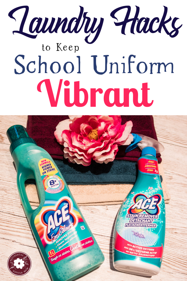 Laundry hacks to remove stains, keep clothes vibrant and cleaning hacks with ACE - #ACEforschool #laundryhacks #cleaninghacks