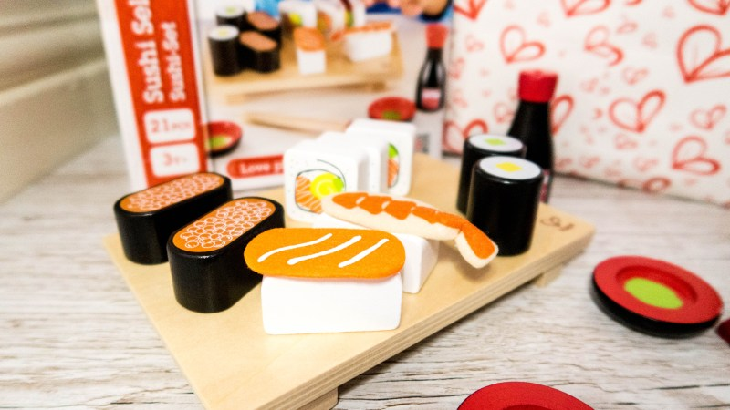 Wooden toy sushi for Gift Ideas for 3-6 Year Olds