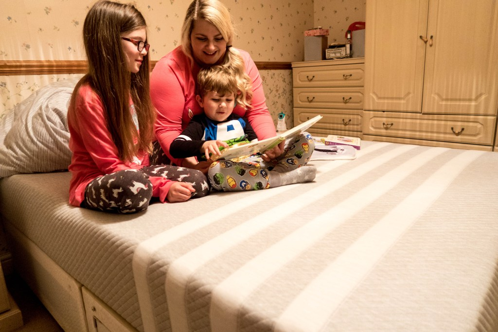 Our Leesa Mattress Has Been a Comfy Setting for Bedtime Stories (and Morning Cuddles)