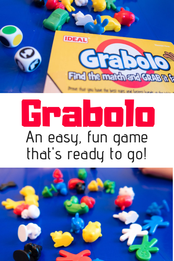 Grabolo is a fun game that's easy to understand and can be taken anywhere and played any time! It's a cool game for preschoolers and grandparents alike! Read the full review here.