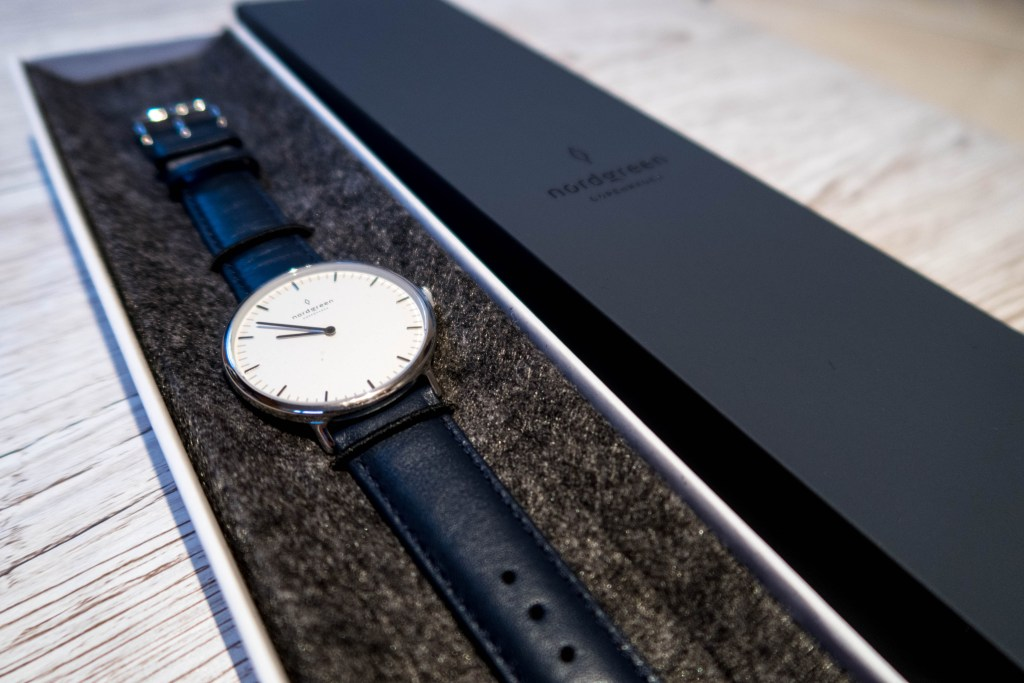 Nordgreen Native minimalist ladies watch in the box when I opened it