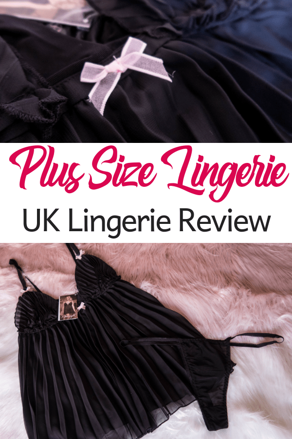 Plus size lingerie review from UK Lingerie. I tried a plus size babydoll and a playtex bra and brief set and here's how I got on... #lingerie #plussize #bra #babydoll