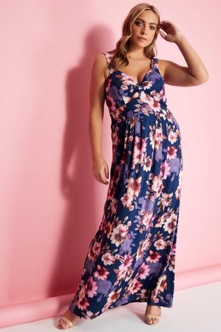Mela London floral plus size maxi dress for wedding guest