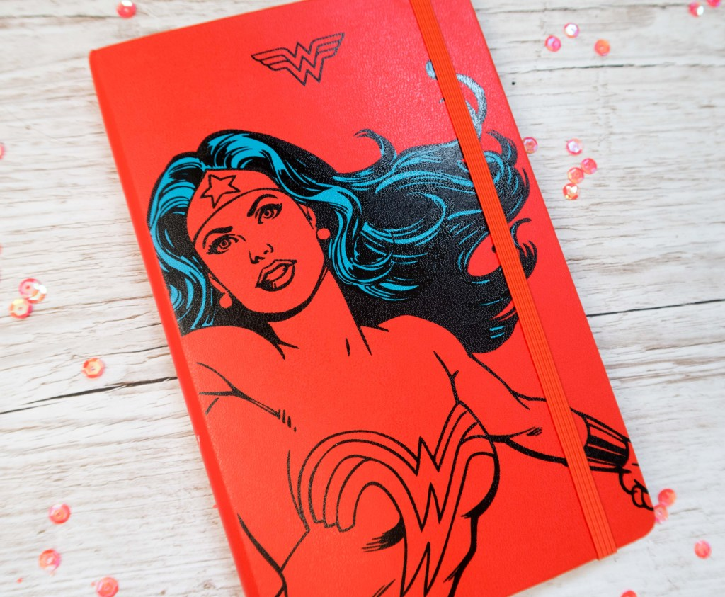 Wonder Woman Moleskine notebook.  A gorgeous hardback notebook for stationery addicts out there and any DC comic fans among us #wonderwoman #DCcomics #Stationeryaddict