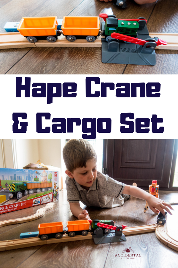 Wooden train sets are always a big hit, this crane and cargo set from a mining themed range is a gorgeous wooden toy for any train small train enthusiasts. Fab gift idea for boys aged 4-7 #toyreview #toysforboys #giftideas