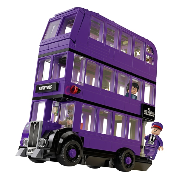 LEGO Knight bus in purple