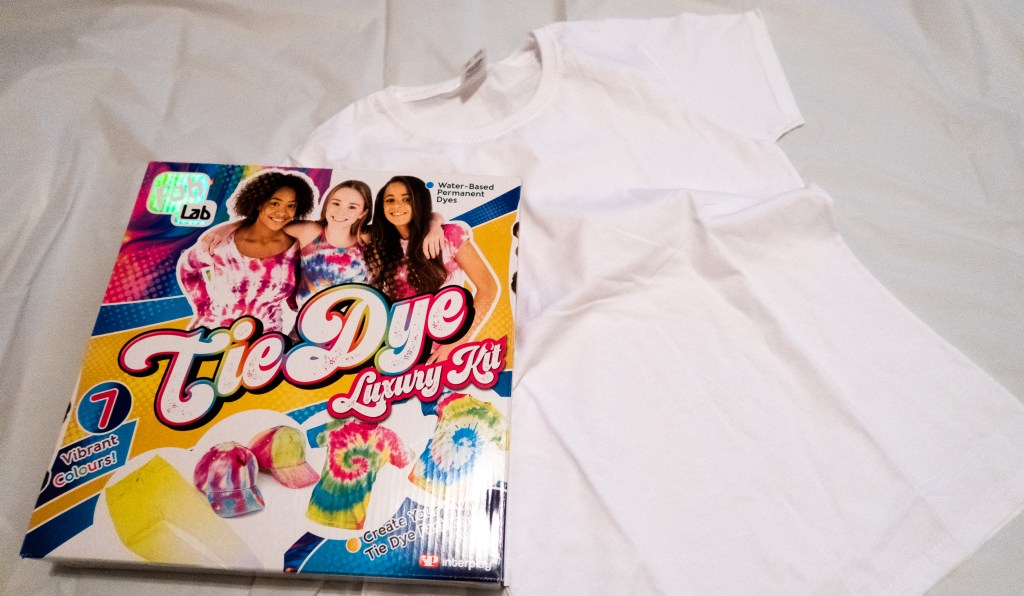 Tie dye kit and white t-shirts
