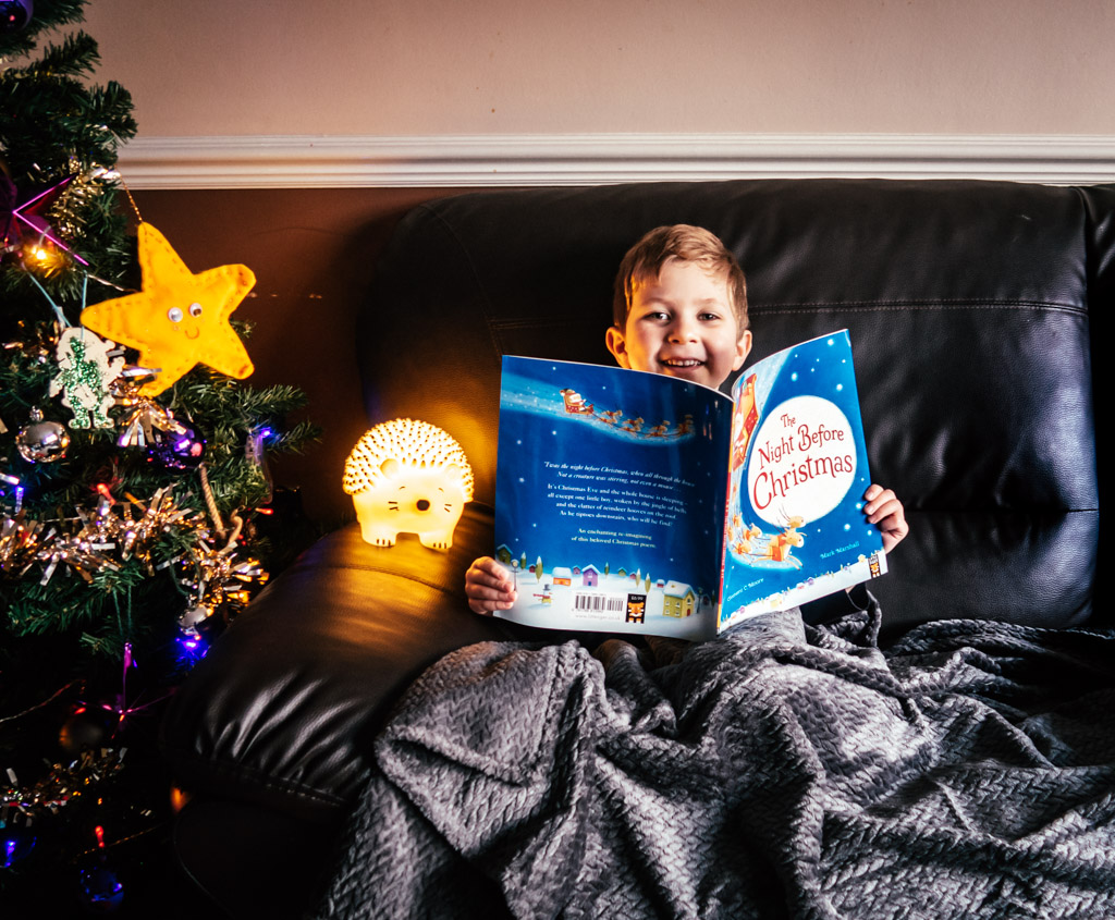 Greg reading The Night Before Christmas