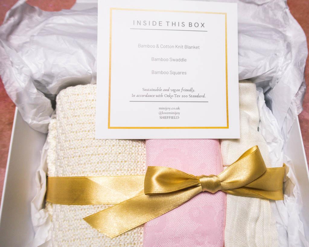 mini joy baby girl gift set open