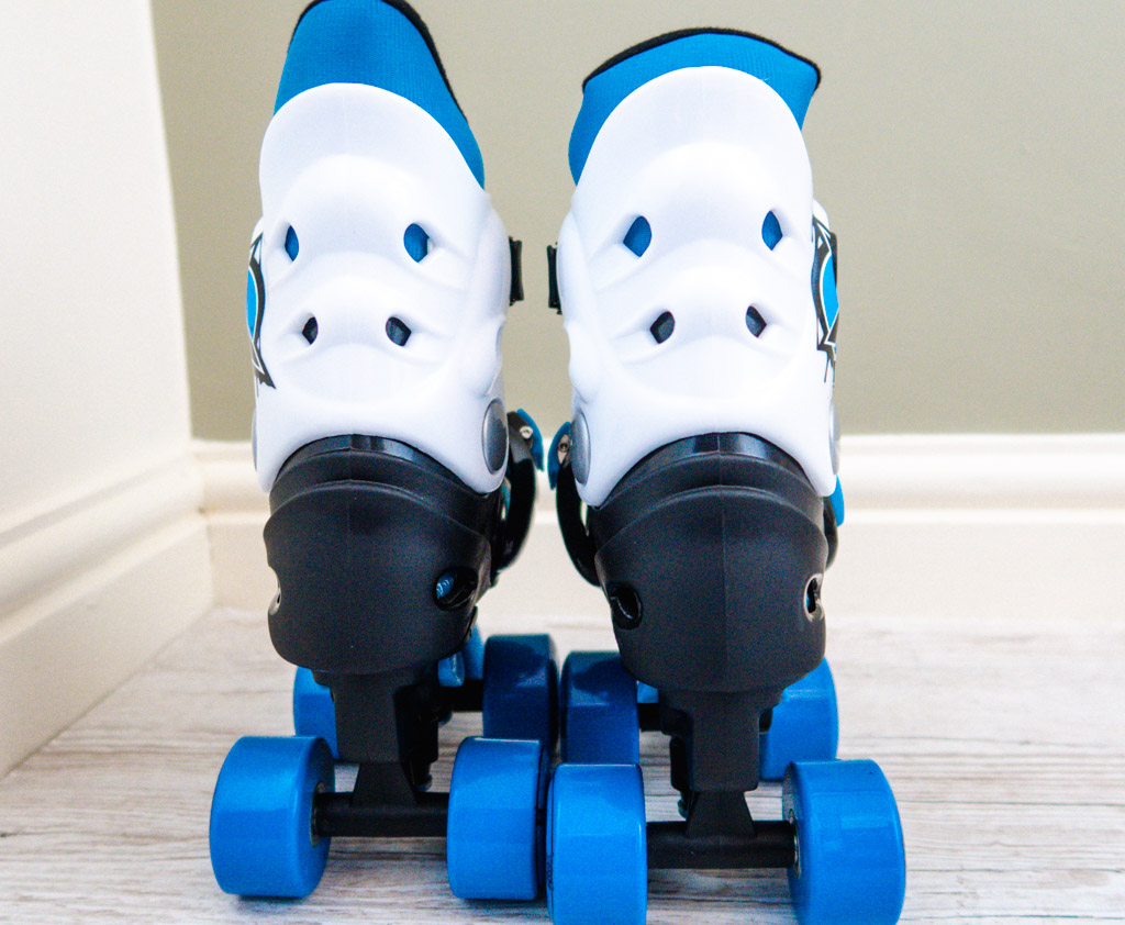 back view of roller skates for kids